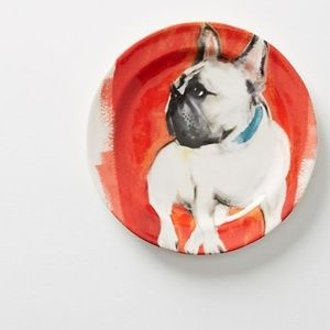 FRENCHIE Sally Muir Dog-A-Day Plate